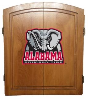 Alabama Crimson Tide Dart Board Cabinet and Bristle Board