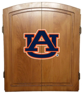 Auburn Tigers Dart Board Cabinet and Bristle Board