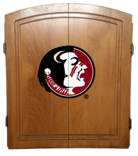 Florida State Seminoles Dart Board Cabinet and Bristle Board