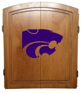Kansas State Wildcats Dart Board Cabinet and Bristle Board