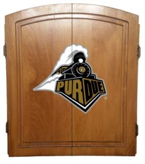 Purdue Boilermakers Dart Board Cabinet and Bristle Board