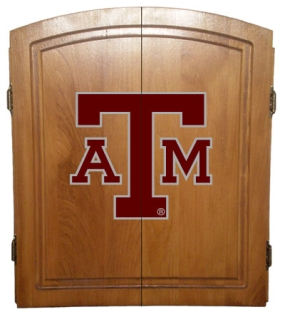 Texas A&M Aggies Dart Board Cabinet and Bristle Board