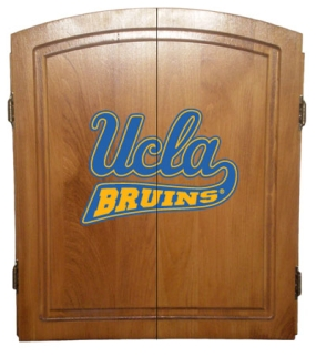 UCLA Bruins Dart Board Cabinet and Bristle Board