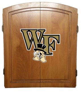 Wake Forest Demon Deacons Dart Board Cabinet and Bristle Board
