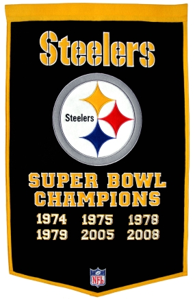 Pittsburgh Steelers Superbowl Champions Dynasty Banner