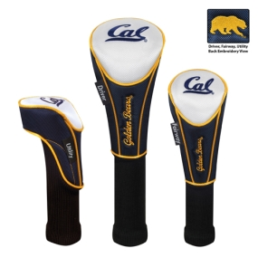 California Golden Bears Set of 3 Golf Club Headcovers