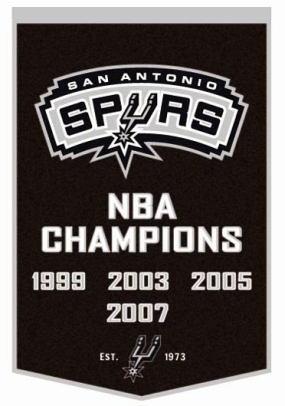 San Antonio Spurs Banner Dynasty Banner