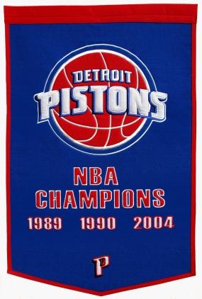 Detroit Pistons Banner Dynasty Banner