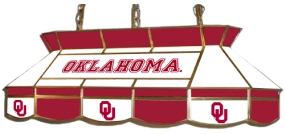 Oklahoma Sooners Stained Glass Tear Drop Billiard Light