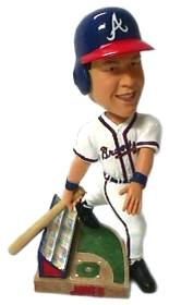 Atlanta Braves Chipper Jones Action Pose Bobble Head