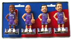 Sacramento Kings Road Jersey Mini Bobble Head Set
