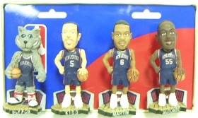 New Jersey Nets Road Jersey Mini Bobble Head Set