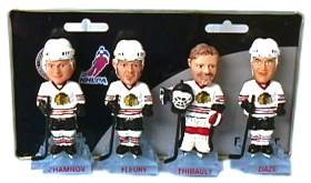 Chicago Blackhawks Alternate Mini Bobble Head Set