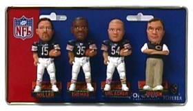 Chicago Bears 2002 Mini Bobble Head Set
