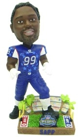 Tampa Bay Buccaneers Warren Sapp 2003 Pro Bowl Bobble Head