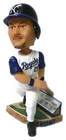 Kansas City Royals Mark Sweeney Action Pose Bobble Head