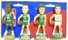 Boston Celtics Retired Players Mini Bobble Head Set
