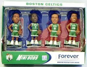 Boston Celtics Road Jersey Mini Bobble Head Set