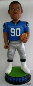"Carolina Panthers Julias Peppers 36"" Bobble Head"