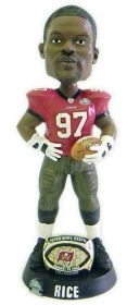 Tampa Bay Buccaneers Simeon Rice Super Bowl 37 Ring Bobble Head