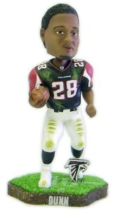 Atlanta Falcons Warrick Dunn Game Worn Bobble Head