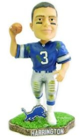 Detroit Lions Joey Harrington Game Worn Bobble Head