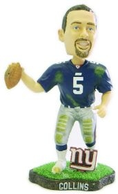 New York Giants Kerry Collins Game Worn Bobble Head