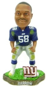 New York Giants Mike Barrow Game Worn Bobble Head