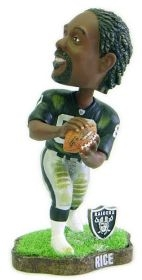 Oakland Raiders Jerry Rice Game Worn Bobble Head