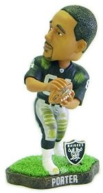 Oakland Raiders Jerry Porter Game Worn Bobble Head