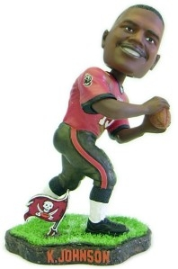 Tampa Bay Buccaneers Keyshawn Johnson Game Worn Bobble Head