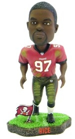 Tampa Bay Buccaneers Simeon Rice Game Worn Bobble Head