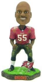 Tampa Bay Buccaneers Derrick Brooks Game Worn Bobble Head