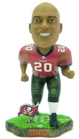 Tampa Bay Buccaneers Ronde Barber Game Worn Bobble Head