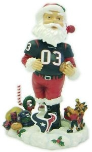 Houston Texans Santa Claus Bobble Head