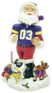 Minnesota Vikings Santa Claus Bobble Head