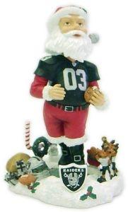 Oakland Raiders Santa Claus Bobble Head