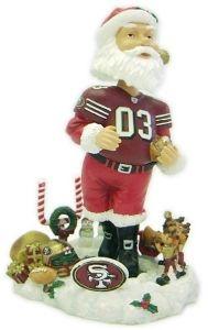 San Francisco 49ers Santa Claus Bobble Head