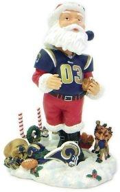 Saint Louis Rams Santa Claus Bobble Head