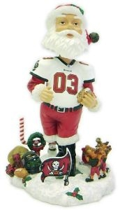 Tampa Bay Buccaneers Santa Claus Bobble Head