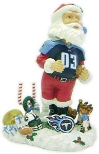 Tennessee Titans Santa Claus Bobble Head