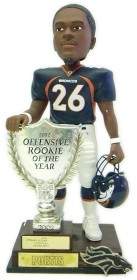 Denver Broncos Clinton Portis 2003 Rookie of the Year Bobble Head