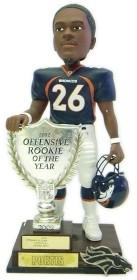 Denver Broncos Clinton Portis 2003 Rookie of the Year Bobble Head