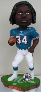 """Miami Dolphins Ricky Williams 18"""" Bobble Head"""
