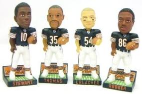 Chicago Bears 2003 Mini Bobble Head Set