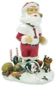 Florida State Seminoles Santa Bobble Head
