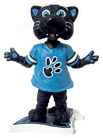 "Carolina Panthers Mascot ""Sir Purr"" Bobble Head"