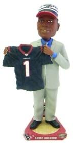 Houston Texans Andre Johnson Draft Pick Bobble Head