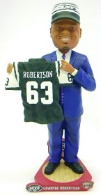 New York Jets Dewayne Robertson Draft Pick Bobble Head