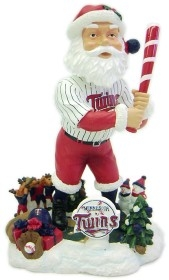 Minnesota Twins Santa Bobble Head